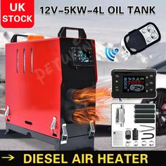 12V Air Diesel Night Heater 5KW 4 Holes LCD Monitor Remote Trucks Boats Car home · $84.99