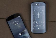 半分スマートフォン、半分電子書籍リーダーの端末、Yota Phone 2。ロシア製で、携帯電話の展望を変革することを目指した製品だ。