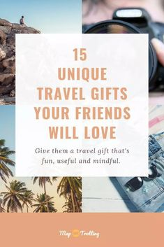 Use this helpful list to buy unique travel gifts for your travel-loving friends and loved ones. Choose gifts that they will love and won't leave them behind. All Travel Products Online in High Quality Travel Advice, Travel Guides, Travel Tips, Travel Hacks, Travel Destinations, Special T, Best Travel Gifts, Travel Gadgets, Packing Tips