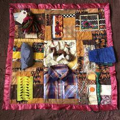 Sensory Blanket Fidget Quilt Pheasants Autumn 2 by EclecticEchos