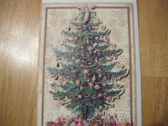 Quality handmade 3D Decoupage Christmas Card by CrowCottageCrafts,