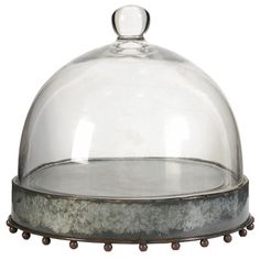 A&B Home Group, Inc Cake Stand with Glass Dome & Reviews | Wayfair