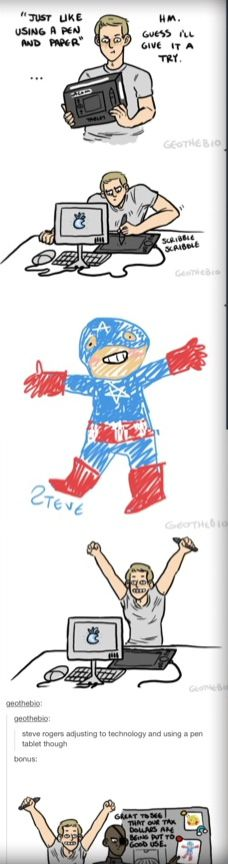 Happiest Steve Rogers ever