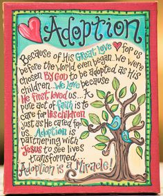 Loving this 'Adoption' Tabletop Canvas on #zulily! #zulilyfinds