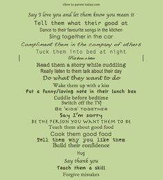 25 Ways To Show Your Children You Love Them