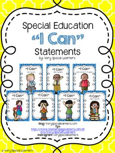 "Special Education ""I Can"" posters. Full size and mini size..great for adding to visual or velcro schedules."