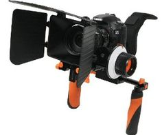 DSLR Rig Shoulder Support RL02MSET O Rig Mount Stabilizer Matte Box Follow Focus Set for Nikon Canon by RL. $199.99. This ePhoto DSLR rig kit delivers excellent results without any jerk problems. It eliminates fatigue. This Shoulder Mount & follow focus can easily be adapted on Canon 5D Mark II, Nikon D90 or any other camera.   Following items are included:   1 x DSLR rig 1 x Follow Focus 1 x Gear Belt 1 x Matte Box