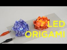 LED Origami Lotus Flower & Frog Tutorial #origami #origamifrog #origamiflower #origamilotus #led #technology #diy