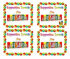 Parents Are Lifesavers Printable