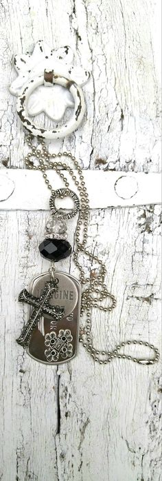 Cross Quote Necklace CROSS NECKLACE by SecretStashBoutique on Etsy