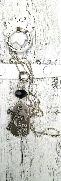 Cross Quote Necklace Protection Necklace by SecretStashBoutique