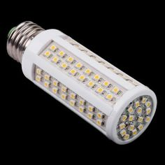 E27 5.5W Warm White 110V 3528 112 LED Corn Light Bulb Lamp by Unknown. $6.55. Warm white light, not contain lead, mercury and other pollution elements. High quality, stable performance. Designed to fit standard E27 fittings. Suitable for pub, exhibition, office and other places.  Specifications: Lamp base: E27 Light color: Warm white Voltage: 100-120V Power: 5.5W LED quantity: 112 pieces Lumen: 550LM Color temperature: 3000-3500K Product weight: 48g Package weight: 65g Product si...
