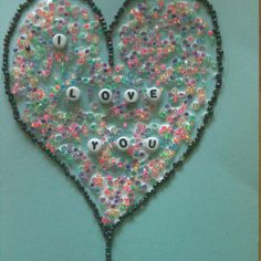 Another use for seed beads when you're tired of jewelry making. Fun project for the kids. Draw a picture, then pull out the glue and add the beads.