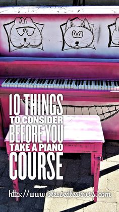 Piano is a very popular and common instrument to learn. How do you consider to take a piano course or piano lessons?