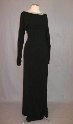 1930s evening gown with rhinestone neckline and deep V back. *sigh*