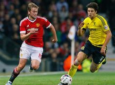 Manchester United 0 Middlesbrough 0: James Wilson on the attack at Old Trafford in the Capital One Cup, a game Boro won on penalties