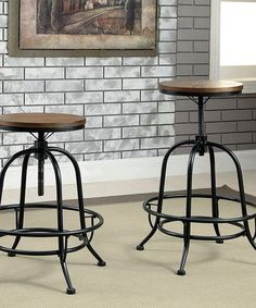 Unique Industrial Counter Height Bar Stools