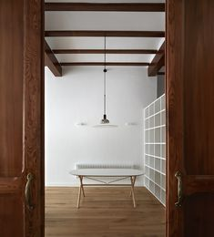 Restoration and renovation of an old house in Valencia, Valencia, 2016 - DG Arquitecto Valencia Valencia, Wooden Doors, Modern Rustic, Townhouse, Restoration, Ceiling Lights, The Originals, Interior Design, Furniture