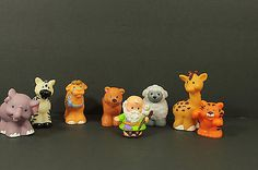 Fisher Price Little People Noahs Ark with Animals Figures Lot of 8