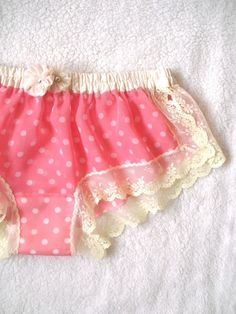 Dots Voile Flower Sleep Boxer/style HINAGESHI (made to order). $40.00, via Etsy.