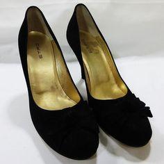 ETRO Milano women shoe suede black high heel size 8B 38 NIB #ETROMILANO #Stilettos
