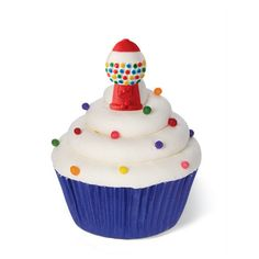 Wilton icing decorations are perfect for topping cupcakes, cookies and ice cream. Certified Kosher. Top treats with adorable Gumball Machine Icing Decorations. Decorate homemade or store-bought cookie