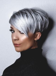Short Thin Hair, Short Grey Hair, Short Blonde, Short Hair Cuts, Short Hair Styles, Thick Hair, Oval Face Haircuts, Short Pixie Haircuts, Pixie Hairstyles