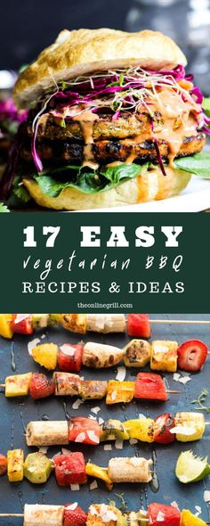 Easy Vegetarian BBQ Ideas For Your Next Cook-Off Meat-free doesn't mean grill-free. Here are 17 easy vegetarian BBQ ideas for you to enjoy at any barbecue. doesn't mean grill-free. Here are 17 easy vegetarian BBQ ideas for you to enjoy at any barbecue. Vegetarian Grilling, Healthy Grilling Recipes, Barbecue Recipes, Real Food Recipes, Vegetarian Recipes, Grilling Ideas, Tailgating Recipes, Barbecue Sauce, Quick Dinner Recipes
