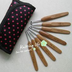 Excelente qualidade de alça de bambu crochê, agulhas de tricô, crochê ferramentas de tricô, frete grátis US $10.20