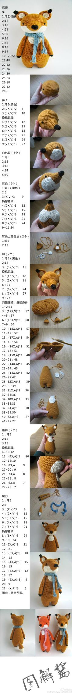 Fox - I know it's all in Japanese but an experienced crocheter might be able to work it out from the pictures and numbers.