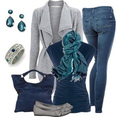 """LIKE all of this except the verytight jeans.  Much too old for them.  Celtic Ring"" by smores1165 on Polyvore"