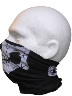 Multifunctional Headwear Black with Skull Jaw (PLUS 1 FREE...black splatter  design)  Amazon.co.uk  Sports   Outdoors af643bdaaf00