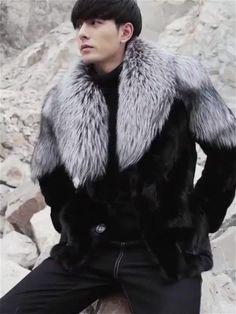 Mens Shearling Jacket, Mens Fur, Fur Jacket, Leather Jacket, Leather Coats, Fur Goods, Couture Coats, Fox Fur Coat, Mens Clothing Styles