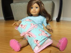 Poodle sleeping bag for American Girl doll