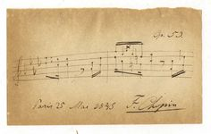 Frederic Chopin's autographed copy of his Op.53 Polonaise