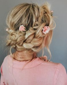 New Wedding Hairstyles Boho Barefoot Blonde Ideas Valentine's Day Hairstyles, Bohemian Hairstyles, Pretty Hairstyles, Braided Hairstyles, Wedding Hairstyles, Formal Hairstyles, Braided Updo, Hairstyle Ideas, Kim Kardashian Hair