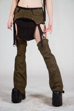 ConVert Utility Belt and Sync Leggings- OD Green by  Crisiswear - HOW COOL IS THIS?
