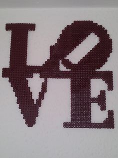 LOVE hama perler beads by Camilla Larsen