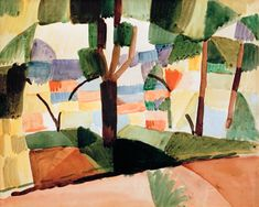 Landschaft bei Hammamet Kunstpostkarte August Macke 1914