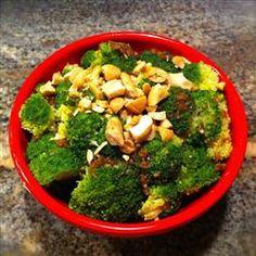 #SundaySupper  Broccoli with Garlic Butter and Cashews Allrecipes.com