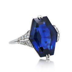 An Art Deco Sapphire and Diamond Ring, circa 1925