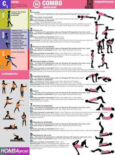 Ejercicios para ponerse en forma en casa exercicis pinterest - Ponerse en forma en casa ...