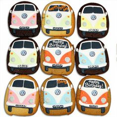 VW bus cookies. Emily an Kenny would LOVE these!!