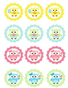 FREE Spring Owl Cupcake Toppers Printable TARA - The bottom 2 rows are the ones I'm using on the cupcakes! Owl Cupcakes, Themed Cupcakes, Halloween Crafts For Toddlers, Toddler Crafts, Owl Classroom, Kindergarten Classroom, Classroom Decor, Owl Birthday Parties, Owl Parties