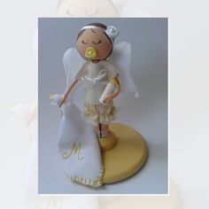 Topo De Bolo - Anjinho em madeira