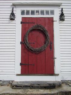 Traditional front door - we could use the thick boards from the original house as the front door ❤️️