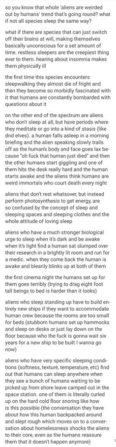Humans are weird: Sleep