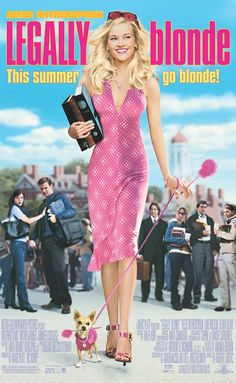 Directed by Robert Luketic.  With Reese Witherspoon, Luke Wilson, Selma Blair, Matthew Davis. When a blonde sorority queen is dumped by her boyfriend, she decides to follow him to law school to get him back and, once there, learns she has more legal savvy than she ever imagined.