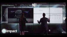 Minority report interactive screen walls