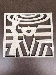 Lasergeschnittene Brettwiedergabe einer Malika Favre-Illustration Laser-cut board rendering of a Malika Favre illustration, Stencils, Stencil Art, Stencil Designs, Wood Crafts, Diy And Crafts, Paper Crafts, Laser Cutter Projects, Diy Cutting Board, Scroll Saw Patterns